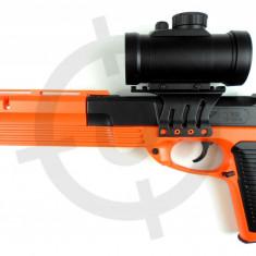 PISTOL AIRSOFT ,BILE 6mm,copie dupa unul real,LASER + BONUS 1000 . PROMOTIE.