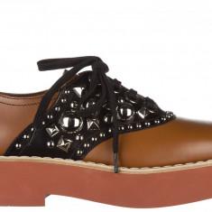 Derby Miu Miu - Pantof dama Miu Miu, Culoare: Maro, Marime: 35.5, 36, 36.5, 37, 38.5, 39