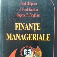 Finante Manageriale Modelul Canadian - Paul Halpern, J.fred Weston, Eugene F.brigham, 405673 - Carte Marketing