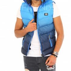 Vesta albastra degrade - vesta fas - vesta barbati - COLECTIE NOUA - 9381 O2, Marime: S, M, Culoare: Din imagine, Sport