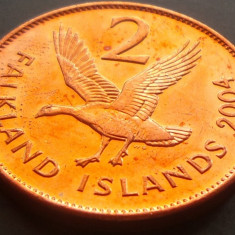 Moneda 2 Pence - i-le FALKLAND, anul 2004 *cod3176 a.UNC, Australia si Oceania