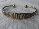 BRATARA argint TUAREGA TRIBALA BEDUIN reglabila VECHE splendida RARA superba