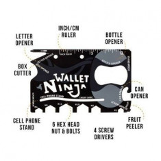 Accesoriu multifunctional 18 in 1 Wallet Ninja