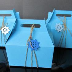 Marturii nunta botez ancora tema marina marinar mare cutii cutiute bomboane
