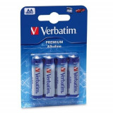 Set baterii AA-LR6 Verbatim, alkaline 1.5v, 4 bucati