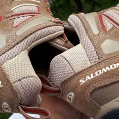 Adidasi dama Salomon SALEWA piele naturala nr.38 originali stare de nou, Culoare: Maro