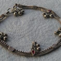 Bratara argint etnica TRIBALA afghana de Picior SUPERBA vintage cu