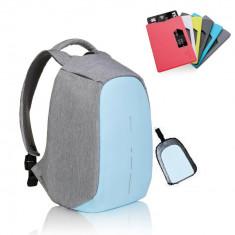 Rucsac laptop Bobby Compact Pastel Blue bleu antifurt + cadou