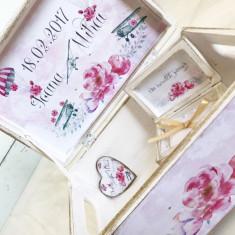 Balloon Love Box- cutie personalizata nunta, Cadouri Valentine`s Day