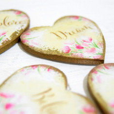 Watercolor Magnet Favors – Marturii nunta magneti personalizati