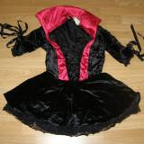 Costum carnaval serbare vrajitoare vampirita contesa pentru adulti marime XS - Costum Halloween, Marime: Masura unica, Culoare: Din imagine