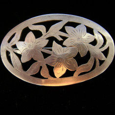 Brosa din argint stil ar nouveau - Brosa argint