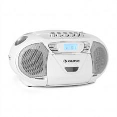 Auna KrissKross de radio portabil recorder USB MP3 CD alb - Echipament karaoke