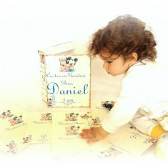 Carte cu Ganduri Bune Mickey si Minnie – Guestbook personalizat copii