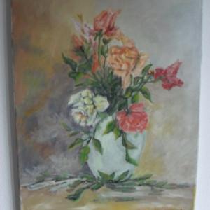 Flori 12-pictura ulei pe panza;MacedonLuiza