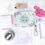 Watercolor Love - Set personalizat trusou si cutie de botez - Trusou botez