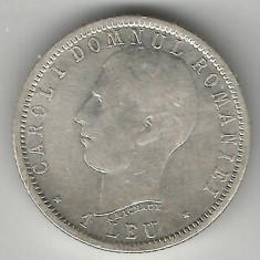 1 LEU 1906 FARA PUNCT ARGINT STARE BUNA SPRE FOARTE BUNA - Moneda Romania
