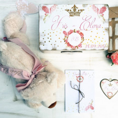 The Bear & The Box Baby Gift Set- Cadou Bebe cu Jucarie, Cadouri Valentine`s Day