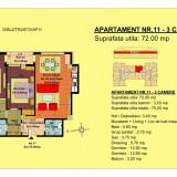 Apartament 3 camere - pret 54750 - Apartament de vanzare, 72 mp, Numar camere: 3, An constructie: 2018, Etajul 2