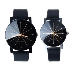 Set ceasuri de mana (barbat si dama) - quartz, Casual, Otel