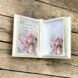 Carte cu Ganduri Bune Rose Story – Guestbook personalizat nunta - Decoratiuni nunta