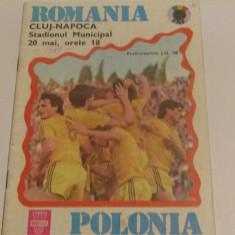 Program meci fotbal ROMANIA - POLONIA 20.05.1987 (preliminarii JO`88)
