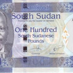 Bancnota Sudanul de Sud 100 Pounds 2017 - P15b UNC