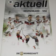 Program meci fotbal GERMANIA - USA (meci amical 10.06.2015)