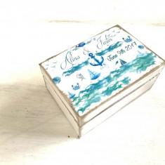 Sailors Dream Ring Box – Cutie personalizata verighete decoratiuni personalizate nunta - Cadou