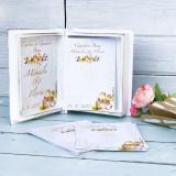 Carte cu Ganduri Bune Dusty Autumn Guestbook personalizat - Decoratiuni nunta