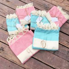 Bride & Groom Beach Towels Set- Prosoape plaja personalizate