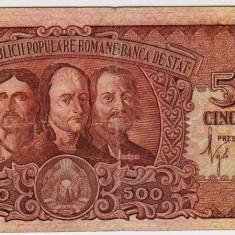 Bancnota 500 Lei 1949 Horia Closca si Crisan - Bancnota romaneasca