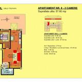 Apartament 2 camere Brasov, zona Tractorul - Apartament de vanzare, 58 mp, Numar camere: 2, An constructie: 2018, Parter