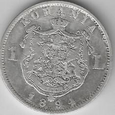 1 LEU 1894 STARE FOARTE BUNA - Moneda Romania