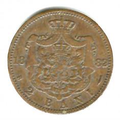2 BANI 1882 CU LITERELE CARO R SI AL INTRERUPTE SI A-URILE FARA LINIUTA FB - Moneda Romania