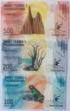 Bancnota Madagascar 100, 200 si 500 Ariary 2017 - PNew UNC