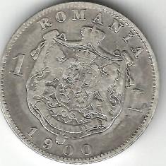 1 LEU 1900 ARGINT STARE FOARTE BUNA - Moneda Romania