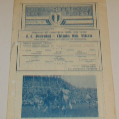 Program meci fotbal PETROLUL PLOIESTI - CHIMIA RM. VALCEA (20.11.1985)