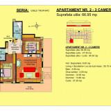 Apartament 3 camere Brasov, zona Tractorul - Apartament de vanzare, 67 mp, Numar camere: 2, An constructie: 2017, Parter