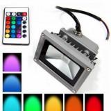 Proiector LED 10W RGB cu telecomanda pentru interior/ exterior - Proiectoare tuning