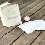 Carte cu Ganduri Bune Watercolor Love Nunta – Guestbook personalizat - Decoratiuni nunta