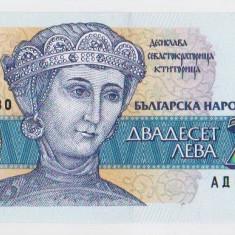 Bulgaria bancnota 20 LEVA 1991  UNC