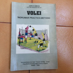 Volei indrumar practico metodic jarco simion arad 1999 carte fan sport hobby - Carte sport