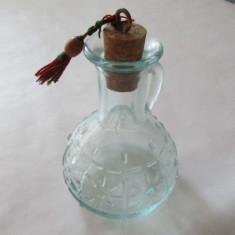 2-CARAFA din sticla-model in relief, vintage - Vaza sticla