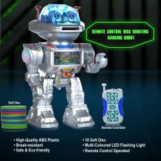 MEGA ROBOT r/c TELECOMANDAT, TRAGE CU DISCURI, SUNETE, LUMINI. CADOU SUPERRR - Roboti de jucarie, Plastic, Unisex