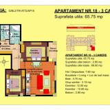 3 camere -zona 13 Decembrie - Apartament de vanzare, 66 mp, Numar camere: 3, An constructie: 2018, Etajul 2