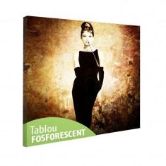 Tablou fosforescent Actrita Audrey Hepburn - Tablou canvas