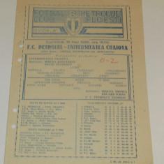 Program meci fotbal  PETROLUL PLOIESTI - UNIVERSITATEA CRAIOVA (18.05.1986)