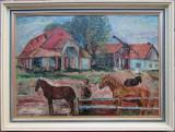 Peisaj din Lipova - semnat  Vasile Varga '51, Peisaje, Ulei, Altul