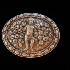 Brosa din argint cu heruvim - Brosa argint